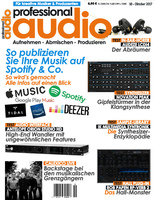 Deckblatt Professional audio 10/2017