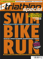 Deckblatt triathlon special 1/2014: SWIM BIKE RUN